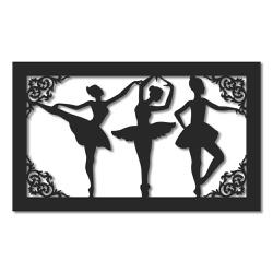 Escultura de Parede Quadro Bailarinas - Q! Bacana