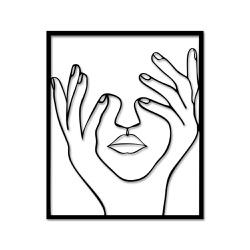 Escultura de Parede Silhueta Mãos - Q! Bacana