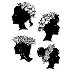 Kit Esculturas de Parede Mulheres Coroa de Flores - Q! Bacana