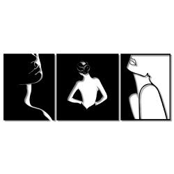Kit Esculturas de Parede Mulheres Sombras - Q! Bacana