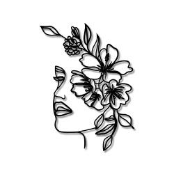 Escultura de Parede Mulher Flores - Q! Bacana