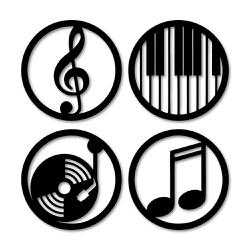 Kit Esculturas de Parede Música - Q! Bacana