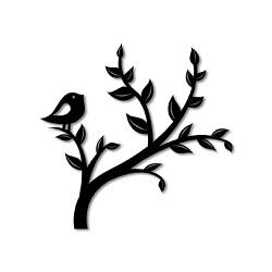 Escultura de Parede Árvore Passarinho - Q! Bacana