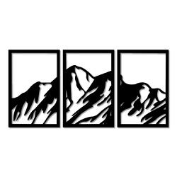 Kit Esculturas de Parede Montanhas - Q! Bacana