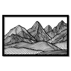 Escultura de Parede Montanhas - Q! Bacana