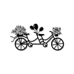 Escultura de Parede Bicicleta Flores - Q! Bacana