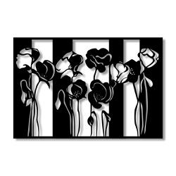 Escultura de Parede Quadro Rosas - Q! Bacana