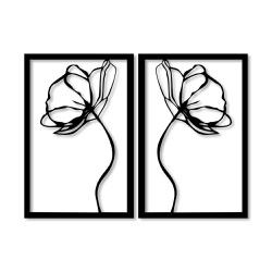 Kit Esculturas de Parede Rosas Espelhadas - Q! Bacana