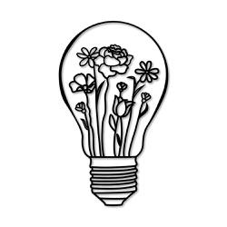 Escultura de Parede Lâmpada Flores - Q! Bacana