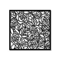 Escultura de Parede Mosaico Rosas - Q! Bacana