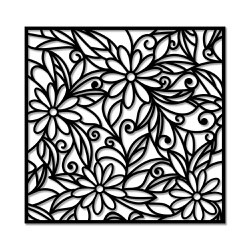 Escultura de Parede Mosaico Flores - Q! Bacana
