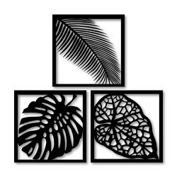 Kit Esculturas de Parede Folhas - Q! Bacana
