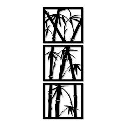 Kit Esculturas de Parede Bambu - Q! Bacana