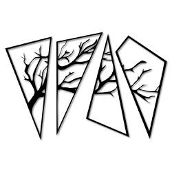 Kit Esculturas de Parede Árvore Dividida - Q! Bacana