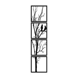Kit Esculturas de Parede Árvore Passarinhos - Q! Bacana