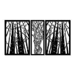 Kit Esculturas de Parede Mulher Árvores - Q! Bacana