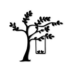 Escultura de Parede Árvore Passarinhos - Q! Bacana