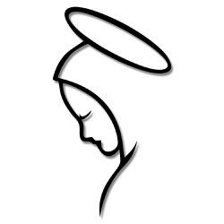 Escultura de Parede Santa Maria - Q! Bacana
