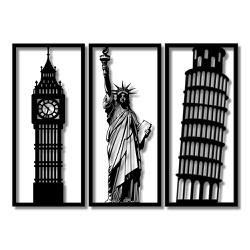 Kit Esculturas de Parede Pontos Turísticos - Q! Bacana