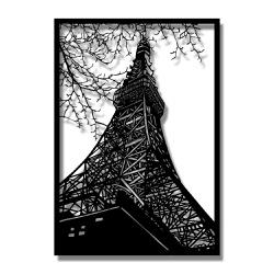 Escultura de Parede Torre Eiffel - Q! Bacana