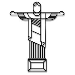 Escultura de Parede Cristo Redentor - Q! Bacana
