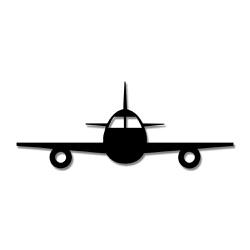 Escultura de Parede Avião - Q! Bacana