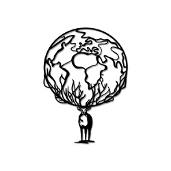 Escultura de Parede Cervo Mundo - Q! Bacana