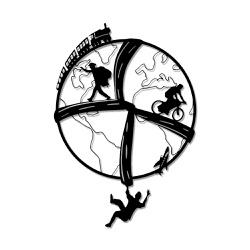 Escultura de Parede Mundo em Movimento - Q! Bacana