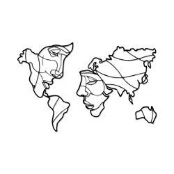 Escultura de Parede Mapa Casal - Q! Bacana
