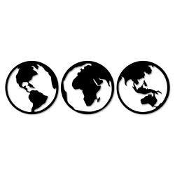 Kit Esculturas de Parede Rotação Mundo - Q! Bacana
