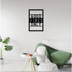 Escultura de Parede Good Vibes Only - Q! Bacana