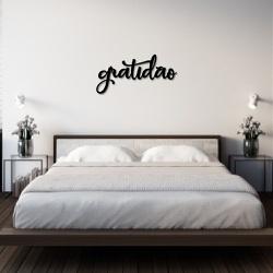 Palavra de Parede Gratidão - Q! Bacana
