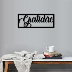 Palavra de Parede Gratidão Moldura - Q! Bacana