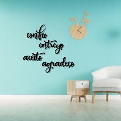 Kit Palavras de Parede Confio Entrego Aceito Agrad... - Q! Bacana