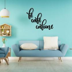 Kit Palavras de Parede Fé Café Cafuné - Q! Bacana