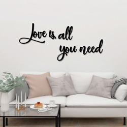 Kit Palavras de Parede Love Is All You Need - Q! Bacana