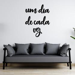 Kit Palavras de Parede Um Dia de Cada Vez - Q! Bacana