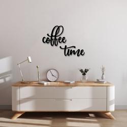Kit Palavras de Parede Coffee Time - Q! Bacana