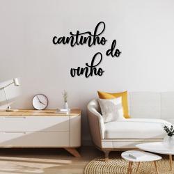 Kit Palavras de Parede Cantinho do Vinho - Q! Bacana