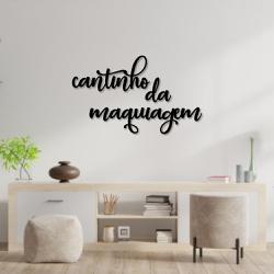 Kit Palavras de Parede Cantinho da Maquiagem - Q! Bacana