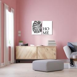 Kit 2 Placas Decorativas Folha Home - Q! Bacana