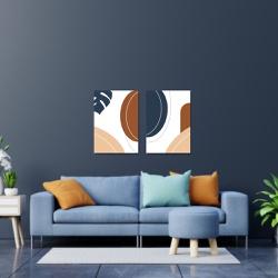 Kit 2 Placas Decorativas Abstrato - Q! Bacana