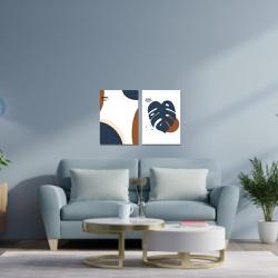 Kit 2 Placas Decorativas Abstrato Folha - Q! Bacana
