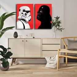 Kit 2 Placas Decorativas Star Wars - Q! Bacana