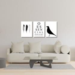 Kit 3 Placas Decorativas O Essencial - Q! Bacana