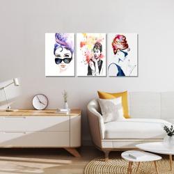 Kit 3 Placas Decorativas Audrey Hepburn - Q! Bacana