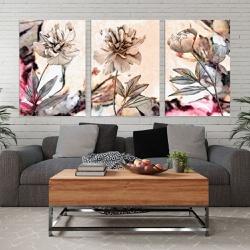 Kit 3 Placas Decorativas Flores - Q! Bacana
