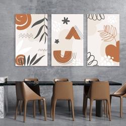 Kit 3 Placas Decorativas Ramos Abstratos - Q! Bacana