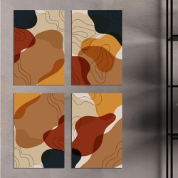 Kit Quadros Decorativos Abstratos - Q! Bacana