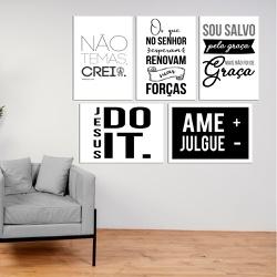 Kit Quadros Decorativos Ame + Julgue - - Q! Bacana